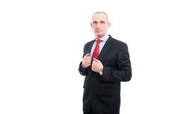 Middle age business man posing being serious Royalty Free Stock Image