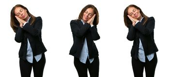 Middle age business woman with long hair stock image