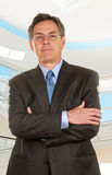Middle Age Businessman With Crossed Arms Stock Photography