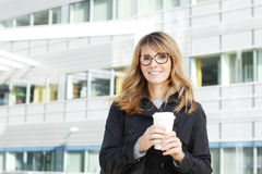 Middle age businesswoman portrait Royalty Free Stock Image