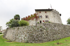 Middle age castle. The middle age castle of Rive D'Arcano (in Italy, near the town of  Udine) which was built in the XIII century by the Tricano (later D'Arcano Royalty Free Stock Photo