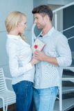 Middle Age Caucasian Lovers Sweet Moments Royalty Free Stock Image