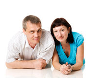 Middle age couple Stock Images