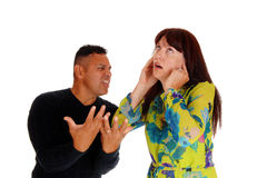 Middle age couple arguing. Royalty Free Stock Image