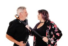 Middle age couple fighting Royalty Free Stock Image