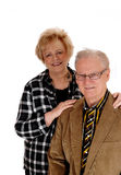 Middle age couple standing. Royalty Free Stock Photos
