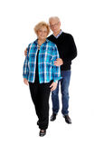 Middle age couple standing. Royalty Free Stock Photo