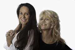 Middle age female friends Royalty Free Stock Images