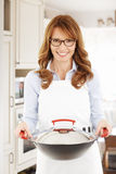 Middle age housewife Stock Photos