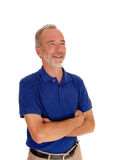 Middle age man with arms grossed. Royalty Free Stock Image