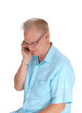 Middle age man on cell phone. Royalty Free Stock Image