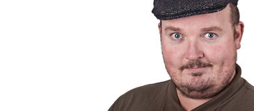 Middle age man with expression on his face Stock Image