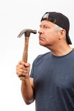 Middle Age Man with a Hammer Stock Image