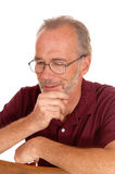 Middle age man in a portrait. Royalty Free Stock Photo