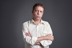 Middle age man relieved Stock Photos