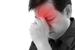 Middle age man suffering from headache Stock Photography