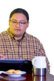 Middle Age Man Using Tablet Stock Photo