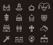 Middle age or medieval icons Stock Images