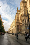Middle Age Sevilla cathedral Royalty Free Stock Image