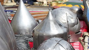 Middle Age War Helmets stock video
