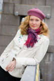 Middle age woman. Portrait in a city Royalty Free Stock Images
