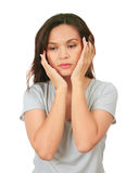 Middle age woman with depressed expression Stock Image