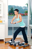 Middle age woman exercise Stock Photography