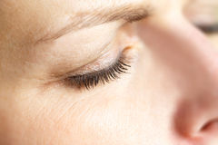 Middle age woman eye macro Royalty Free Stock Photo