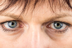 Middle age woman eyes macro Stock Photo