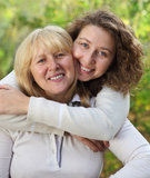 Middle age woman with her daughter Stock Photography