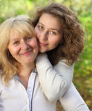 Middle age woman with her daughter Royalty Free Stock Images