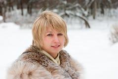 Middle age woman portrait Stock Photos