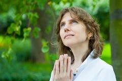 Middle age woman portrait Stock Photo