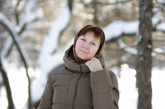 Middle age woman portrait Stock Image
