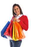 Middle age woman with shopping bags Royalty Free Stock Image