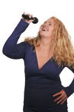 Middle Age Woman Singer Stock Photos