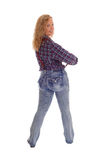 Middle Age Woman Standing From Back. Stock Image