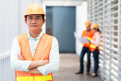 Middle-aged Asian contractor Royalty Free Stock Photo