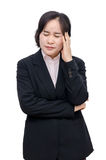 Middle aged asian woman with headache Royalty Free Stock Photos