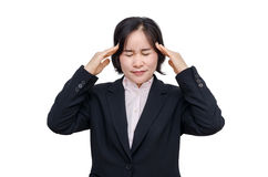 Middle aged asian woman with headache Royalty Free Stock Images