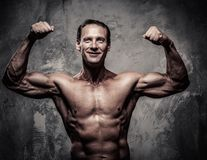 Middle-aged athletic man Stock Photo