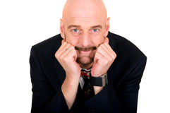 Middle aged bald man Stock Photography