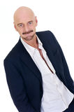 Middle aged bald man Royalty Free Stock Photos