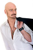 Middle aged bald man Stock Image