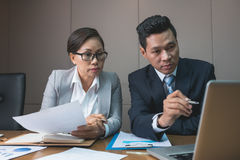 Middle-aged business couple Stock Images