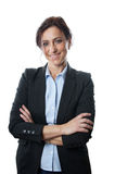 Middle aged business woman smiling Royalty Free Stock Image