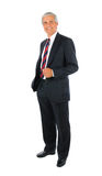 Middle aged Businessman with hand in pocket Royalty Free Stock Photos