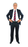 Middle aged Businessman hands on hips Royalty Free Stock Image