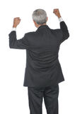 Middle Aged Businessman Hands Raised Stock Photography