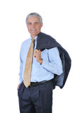 Middle aged Businessman jacket over shoulder Royalty Free Stock Image